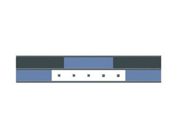 Listela 525L044P Compton Blu 5x25