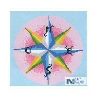 Stakleni mozaik Kompas 3 - 196x196 cm