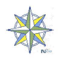 Stakleni mozaik Kompas 4 - 200x200 cm
