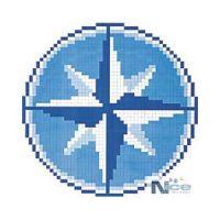 Stakleni mozaik Kompas 5 - 131x131 cm