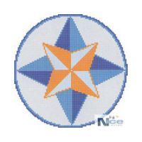 Stakleni mozaik Kompas 7 - 212x212 cm
