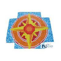 Stakleni mozaik Kompas 10 - 164x164 cm