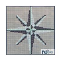 Stakleni mozaik Kompas 15 - 164x164 cm