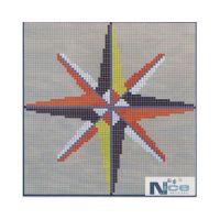 Stakleni mozaik Kompas 16 - 164x164 cm