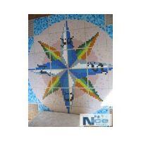 Stakleni mozaik Kompas 17 - 196x196 cm