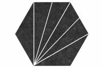Aster Nero 22x25 hexagonal