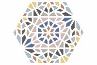 Kasbah Mix Colors Hexagonal 22x25