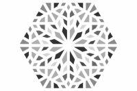 Kasbah Mix Grey Hexagonal 22x25