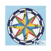 Staklen mozaik Kompas 1 - 180x180 cm