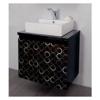 Toaletni ormarić Valnut Black 60 - Pino Art