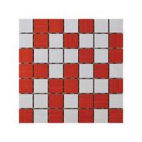 Keramički mozaik Ramona White/Rosso 25x25