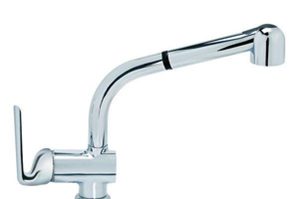 BATERIJA za sudoperu - KING PLUS sa izvl. tušem za ispiranje - 3 cevi-JK385003