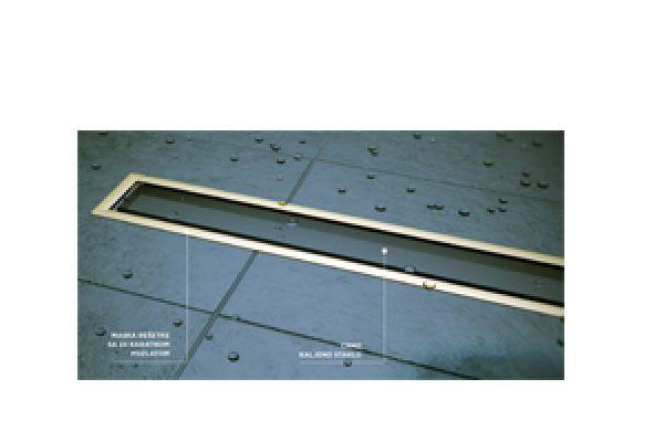 Tuš kanalica Confluo Premium Drain Line 300 Gold Black Glass 13100094